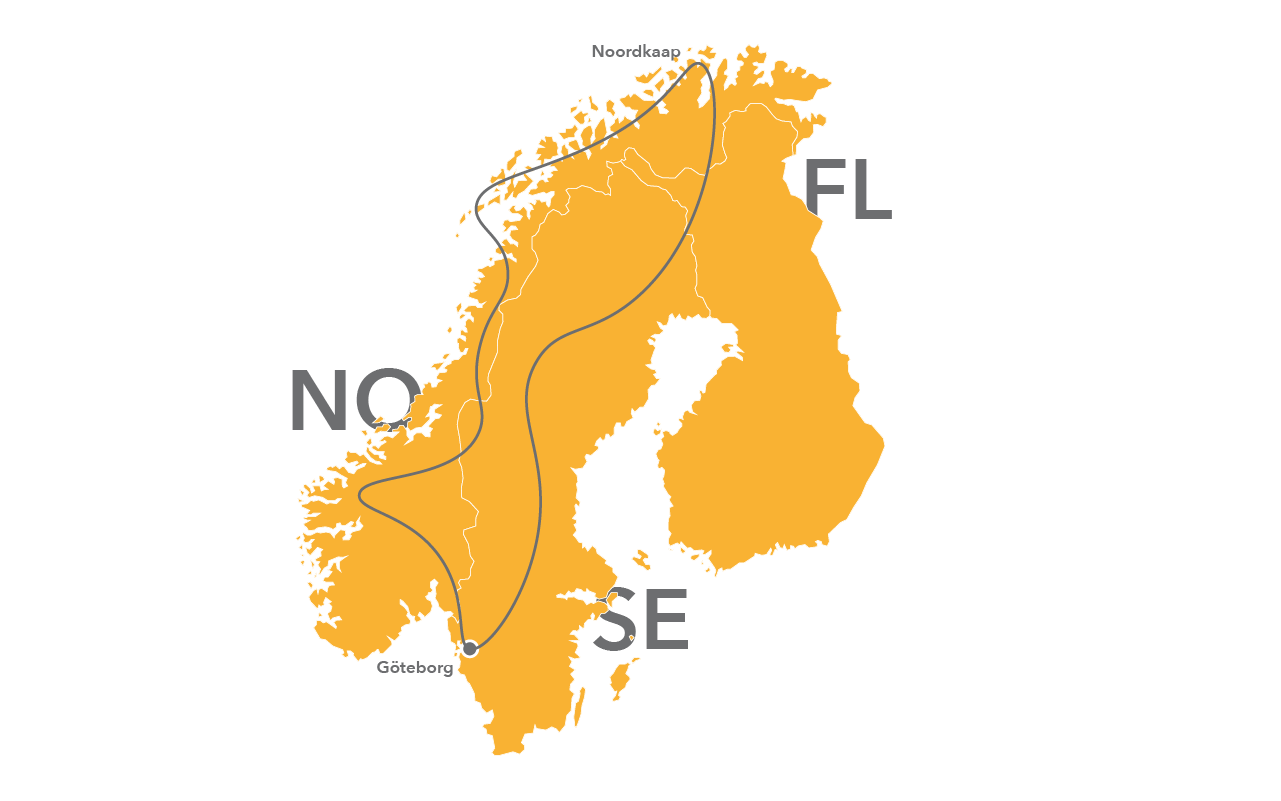 JWRoutes&Support - Noordkaap route